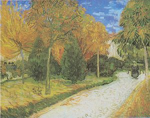 A Lane in the Public Garden at Arles - Image: Van Gogh Weg im Park von Arles
