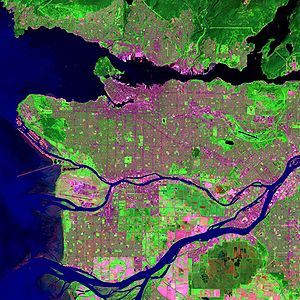Metro Vancouver Regional District - Landsat image of Metro Vancouver