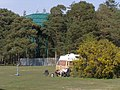 Vans and water tower, Roundhill Campsite, New Forest - geograph.org.uk - 430417.jpg