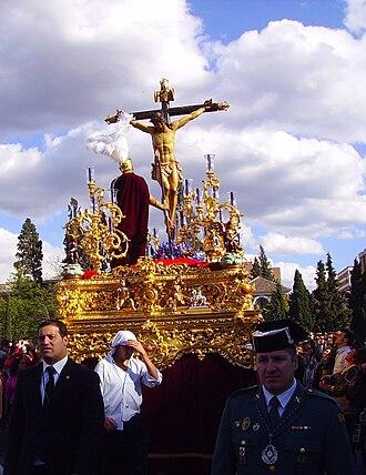 Holy Week in Spain - Holy Week procession in Granada.