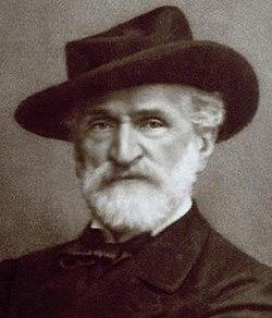 Giuseppe Verdi photographié par Giacomo Brogi
