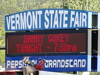 Vermont State Fair - The sign in front of the Vermont State Fair