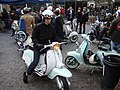 Vespas in a car park opposite the Old Truman Brewery - geograph.org.uk - 1700982.jpg