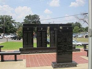 Navarro County, Texas - Veterans Memorial at Navarro County Courthouse in Corsicana