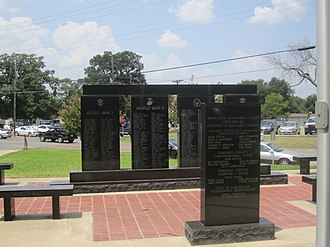 Navarro County, Texas - Veterans Memorial at Navarro County Courthouse in Corsicana