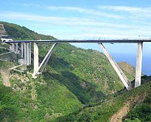 Il viadotto Sfalassà visto da Solano