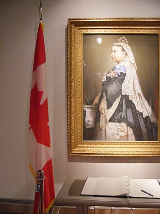 Victoria Day - A portrait in Ottawa City Hall of Queen Victoria, first sovereign of a confederated Canada