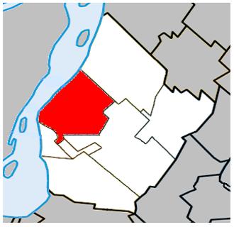 Le Vieux-Longueuil - Image: Vieux Longueuil Quebec location diagram