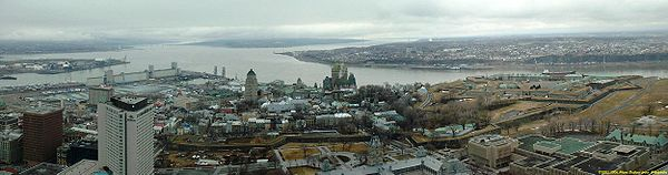 Old Quebec, the walled city.