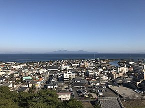 View from Tenshu of Shimabara Castle (east).jpg