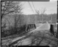 View northeast, west - Albion Trench Bridge, School Street spanning Albion Mill Race, Cumberland, Providence County, RI HAER RI,4-CUMB,5-3.tif