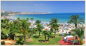 Ayia Napa - Image: View of Agia Napa beach located in vicinity of Nelia Beach Hotel