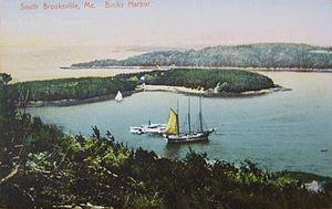 Brooksville, Maine - View of Buck's Harbor c. 1910