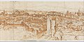 View of Rome from the Janiculum in the South-West; verso- Sketch of buildings and plants MET DP306885.jpg
