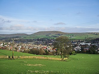 Whitworth, Lancashire - Image: View of Whitworth from Cock Hall