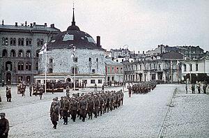 Finnish reconquest of the Karelian Isthmus (1941) - Image: Viipuri recaptured