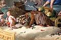 Villa mimbelli, salone, affreschi di annibale gatti, trionfo di eros, 03 leone e tigre.JPG