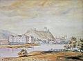 Vilnius Castle and Sluškai palace by Napoleonas Orda.jpg