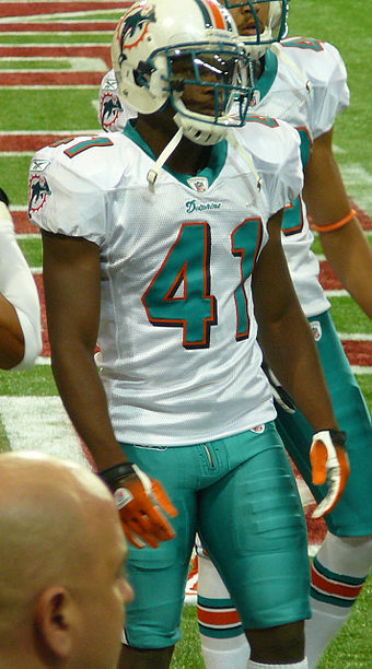 Vince Agnew wearing a helmet. Shoulder pads and thigh pads are visible under his uniform Vince Agnew.jpg
