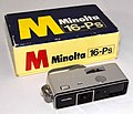 Vintage Minolta 16-Ps 16mm Subminiature Spy-Type Film Camera, Made In Japan, Circa Early 1970s (27169039603).jpg