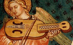 Nyckelharpa - Image: Viola a chiavi Siena 1408