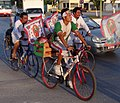 Virgin of Guadalupe Pilgrims on Bicycles - Campeche - Mexico - 02.jpg