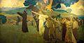 Vision of Saint Francis by Arthur Frank Mathews, 1911.jpg