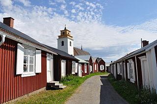 Gammelstaden Place in Norrbotten, Sweden