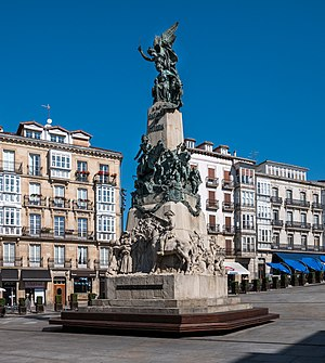 Battle of Vitoria - Image: Vitoria Plaza Virgen Blanca 02