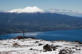 de Calbuco gezien vanaf de vulkaan Osorno