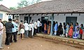 Voters standing in queue to cast their votes at a polling booth, during the Kerala Assembly Election, in Trivandrum district, Kerala on May 16, 2016.jpg