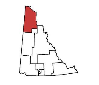 Vuntut Gwitchin (electoral district) - Vuntut Gwitchin in relation to other electoral districts in the Yukon