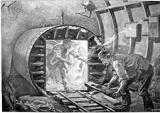 Waterloo & City line - The air lock used during compressed air working