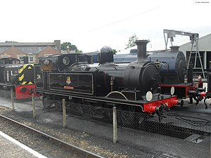 LSWR O2 class - W24 Calbourne in BR lined black livery, August 2010