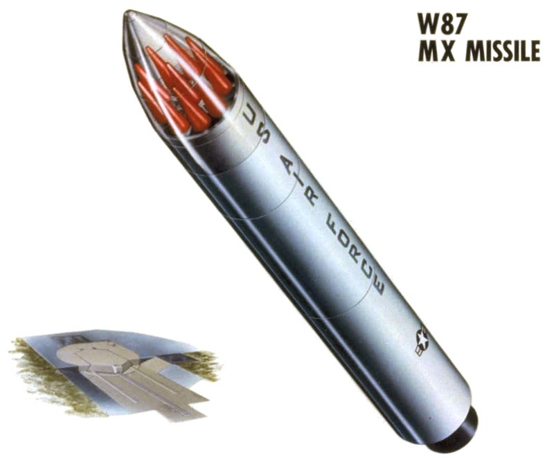 W87 MX Missile schematic