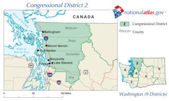 Washington's 2nd congressional district - The district from 2003 to 2013