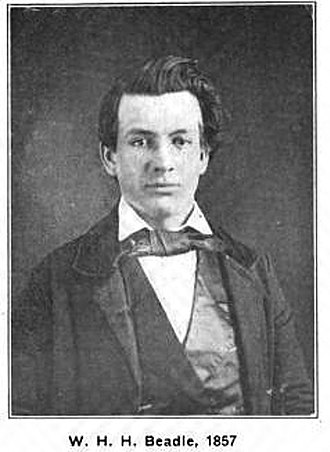 William Henry Harrison Beadle - W.H.H. Beadle in 1857
