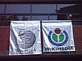 WM2007 Wikipedia and Foundation Flags.jpg