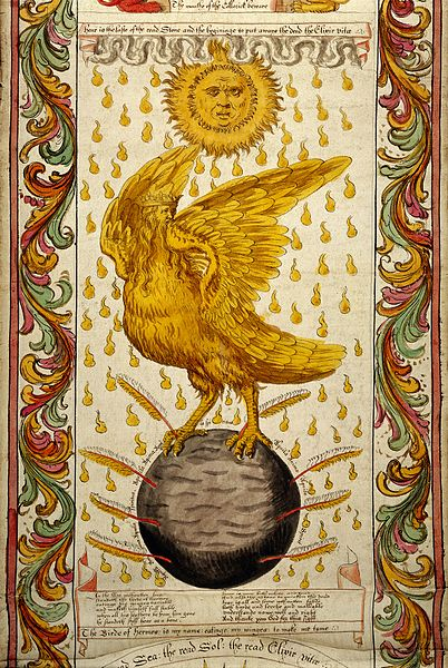 402px-WMS_693,_Ripley_Scroll,_Golden_winged_bird_Wellcome_L0031854.jpg (402×600)