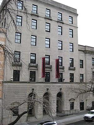 Manhattan School of Music - The Manhattan School of Music, facing Claremont Avenue
