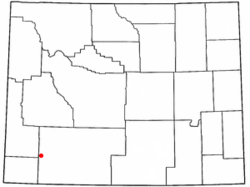 Location of Granger, Wyoming
