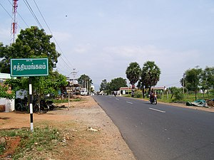 State Highway 15 (Tamil Nadu) - Entering Sathyamangalam along the State Highway 15