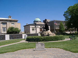 Jeffersonville, Indiana - Statue at Warder Park honoring Thomas Jefferson