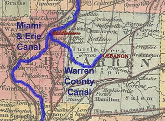 Warren County Canal - The Warren County Canal was a spur of the Miami and Erie Canal to Lebanon, the county seat of Warren County, Ohio