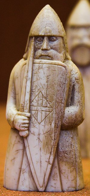 Dubhghall mac Ruaidhrí - Image: Warrior, Lewis chessmen, British Museum crop