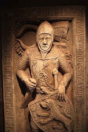 Louis II, Landgrave of Thuringia - Epitaph of Louis the Iron at Wartburg Castle, ca. 1340