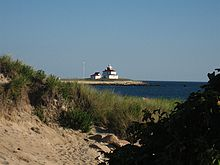 View of the Watch Hill Lighthouse from Napatree Point