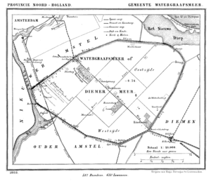Watergraafsmeer - Map of the former municipality Watergraafsmeer in 1869