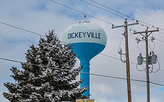 Dickeyville, Wisconsin - Image: Watertower in Dickeyville, Wisconsin (2016)