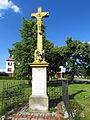 Wayside cross in Přešovice, Třebíč District.JPG